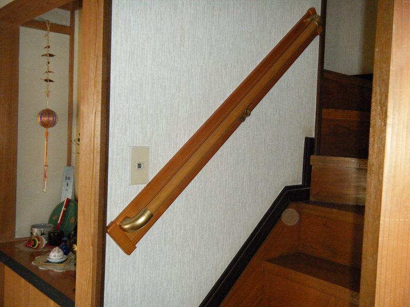 階段手すり取付後です。